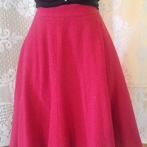 🔥SALE🔥Vintage CHANEL Boutique Pink Wool Skirt 40
